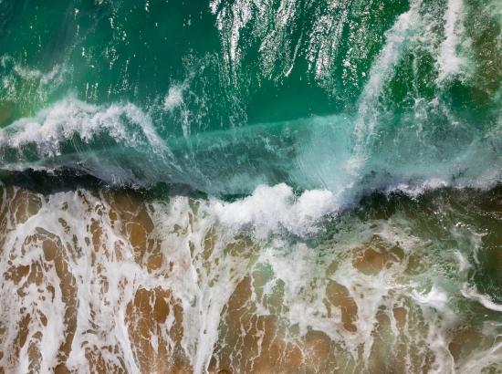 Sea, waves, bluegreen, foam