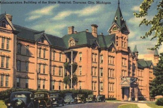 Traverse City State Hospital, postcard