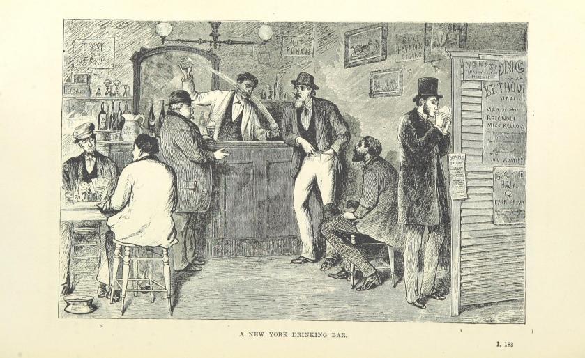 New York Drinking Bar https://www.flickr.com/photos/britishlibrary/11150876823/in/photolist-i6PE88-hZnabX-i72Rij-hTvz58-ibYBPv-hX6uaJ-i1PyY1