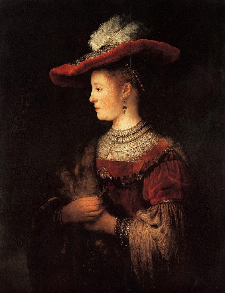 Portrait of Saskia van Uylenburgh, c. 1633–1634
