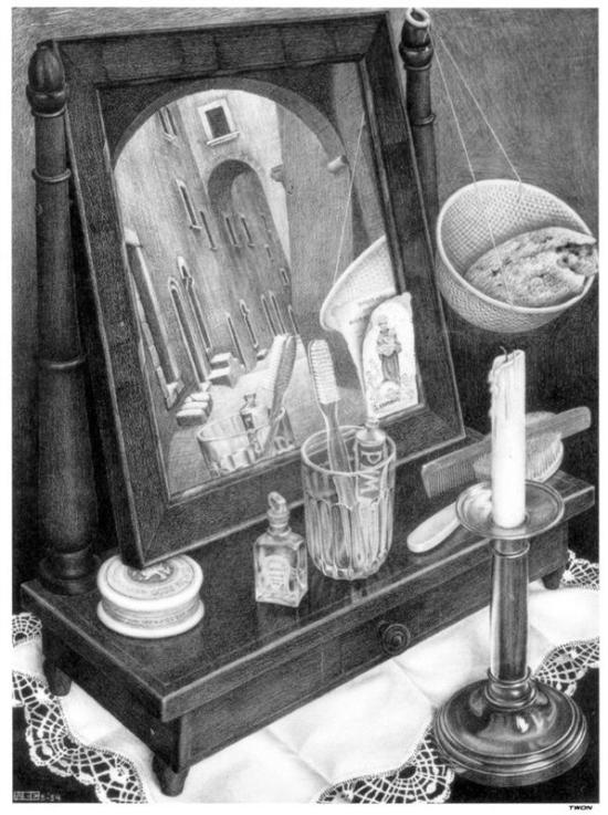 https://www.wikiart.org/en/m-c-escher/candle-mirror