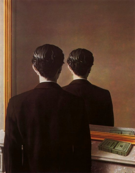 Magritte Not to be reproduced https://www.wikiart.org/en/rene-magritte/not-to-be-reproduced-1937