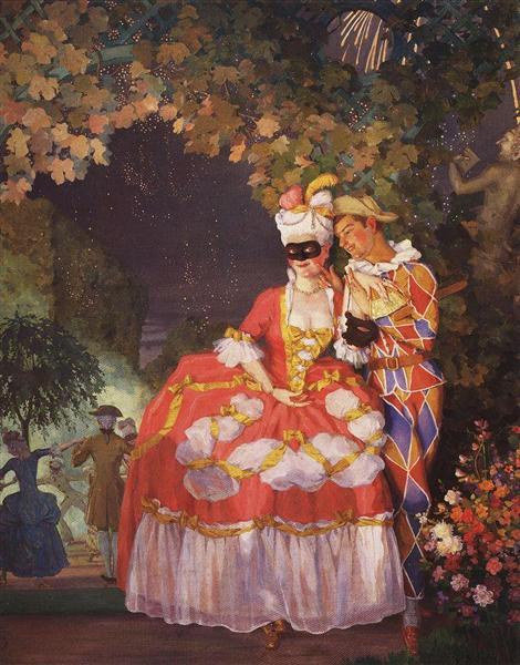 https://www.wikiart.org/en/konstantin-somov/lady-and-harlequin-1