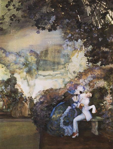 https://www.wikiart.org/en/konstantin-somov/lady-and-pierrot-1910