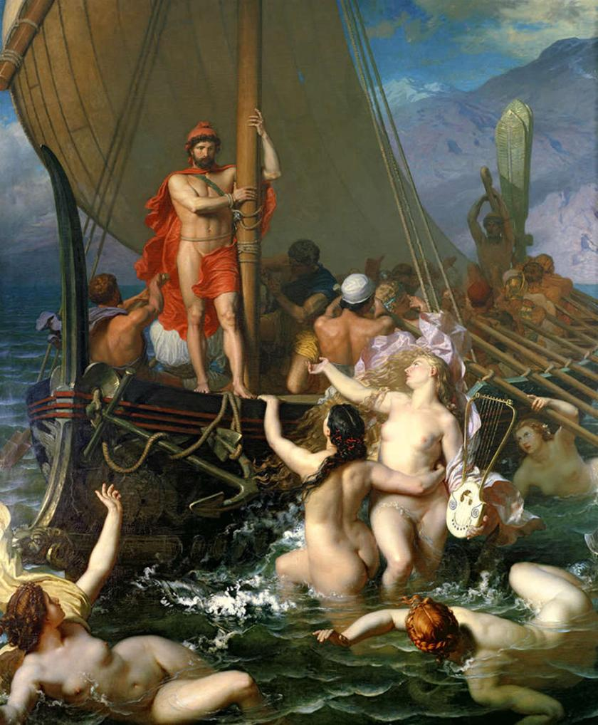 https://commons.wikimedia.org/wiki/File:Ulysses_And_The_Sirens_by_Léon_Belly.jpg