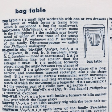 bag table