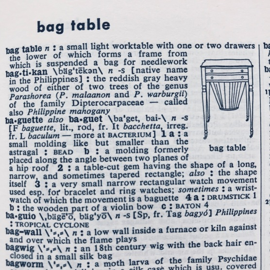 bag table