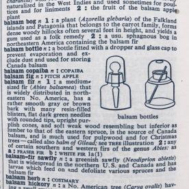 balsam bottles