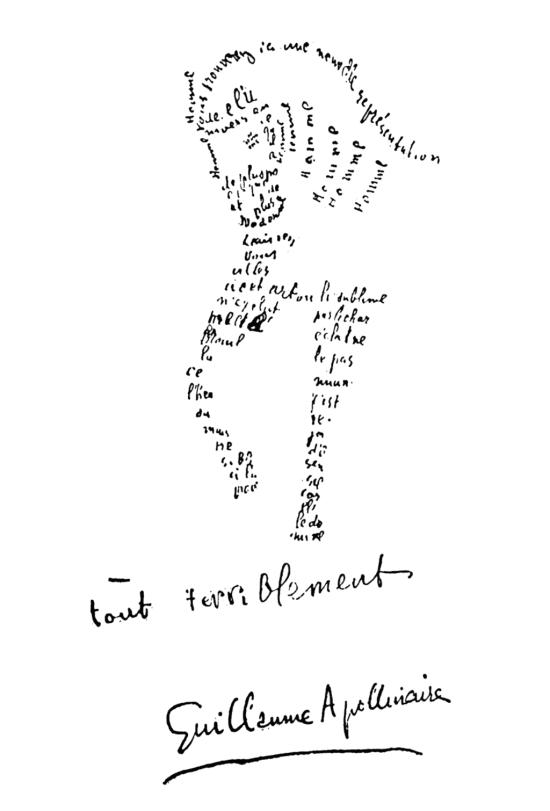 https://en.wikipedia.org/wiki/Calligrammes